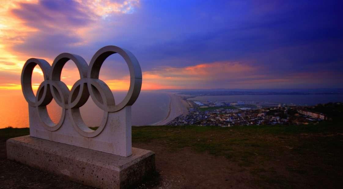 olimpiai öt karika a naplementében